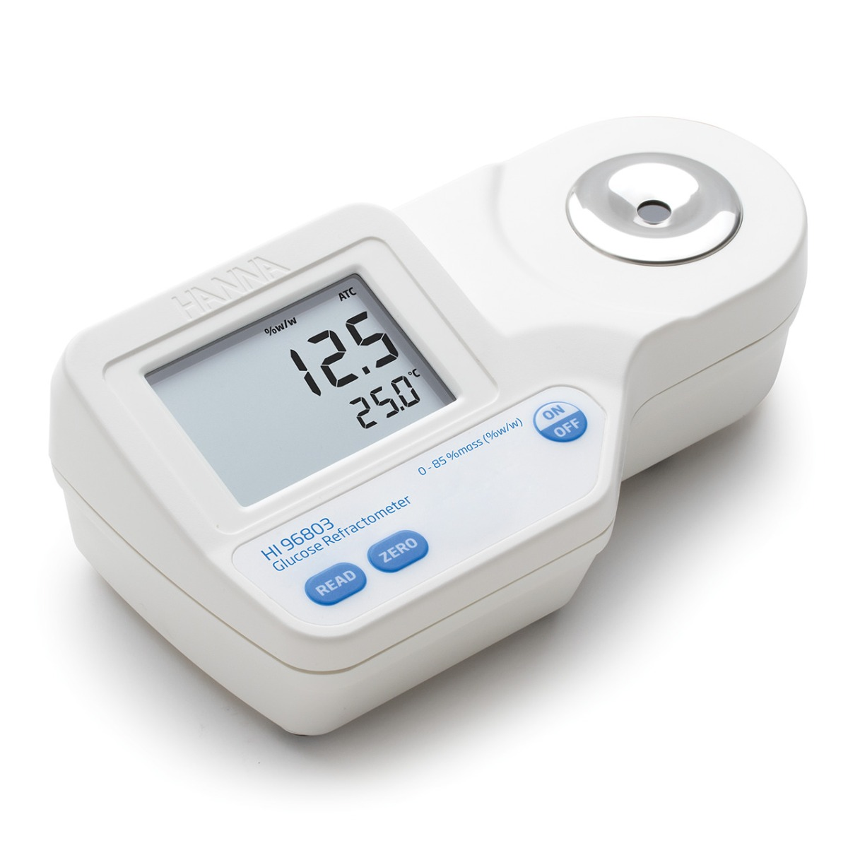 Digital Refractometer for % Glucose by Weight Analysis - HI96803