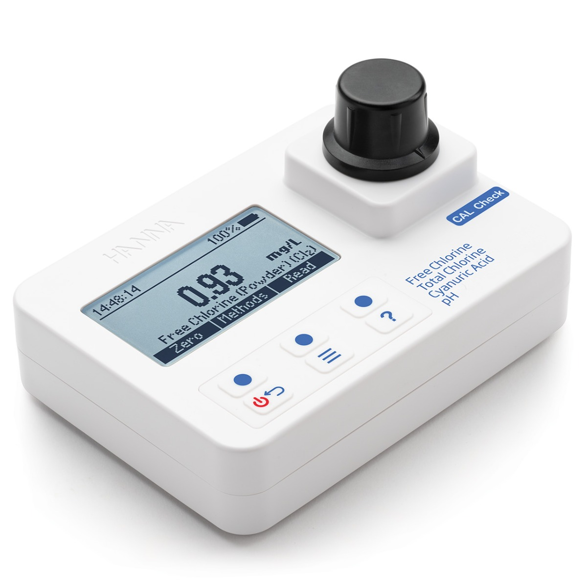 Chlorine Cyanuric Acid and pH Portable Photometer with CAL Check – HI97725