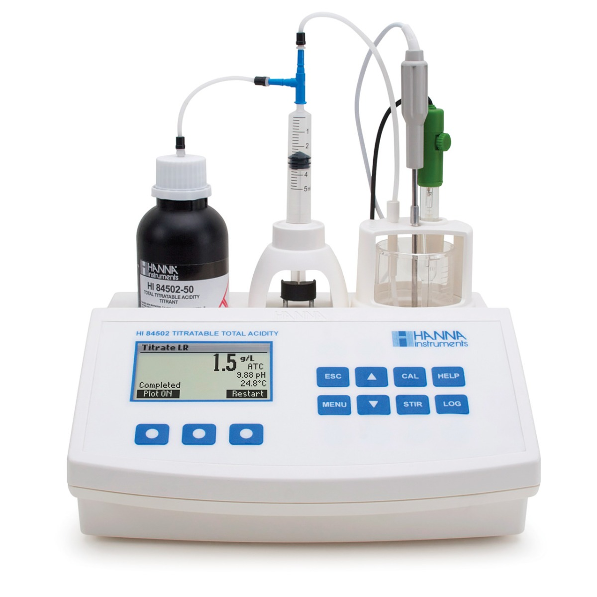 Mini-Titrator for Measuring Titratable Acidity in Wine - HI84502