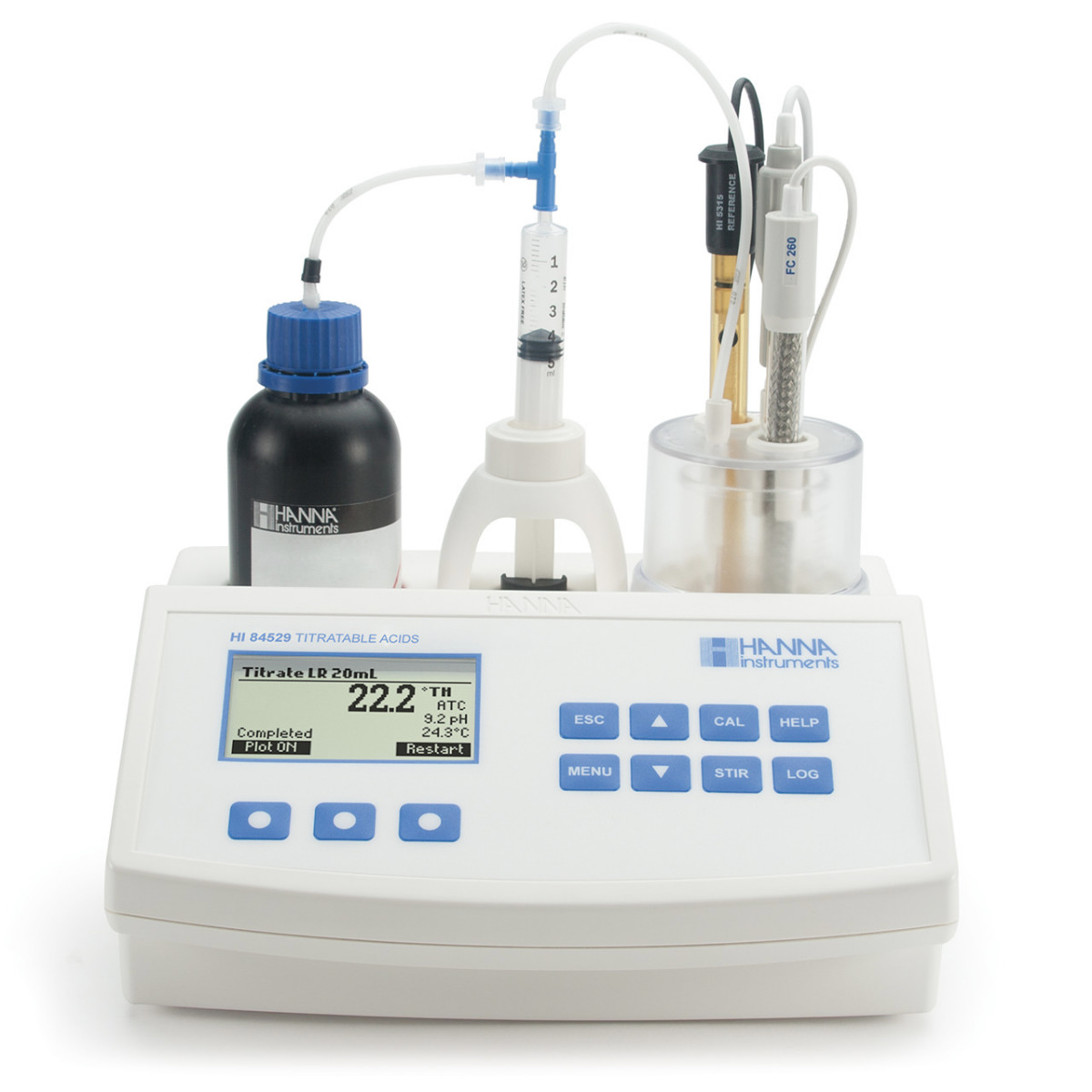 Mini Titrator for Measuring Titratable Acidity in Dairy Products - HI84529