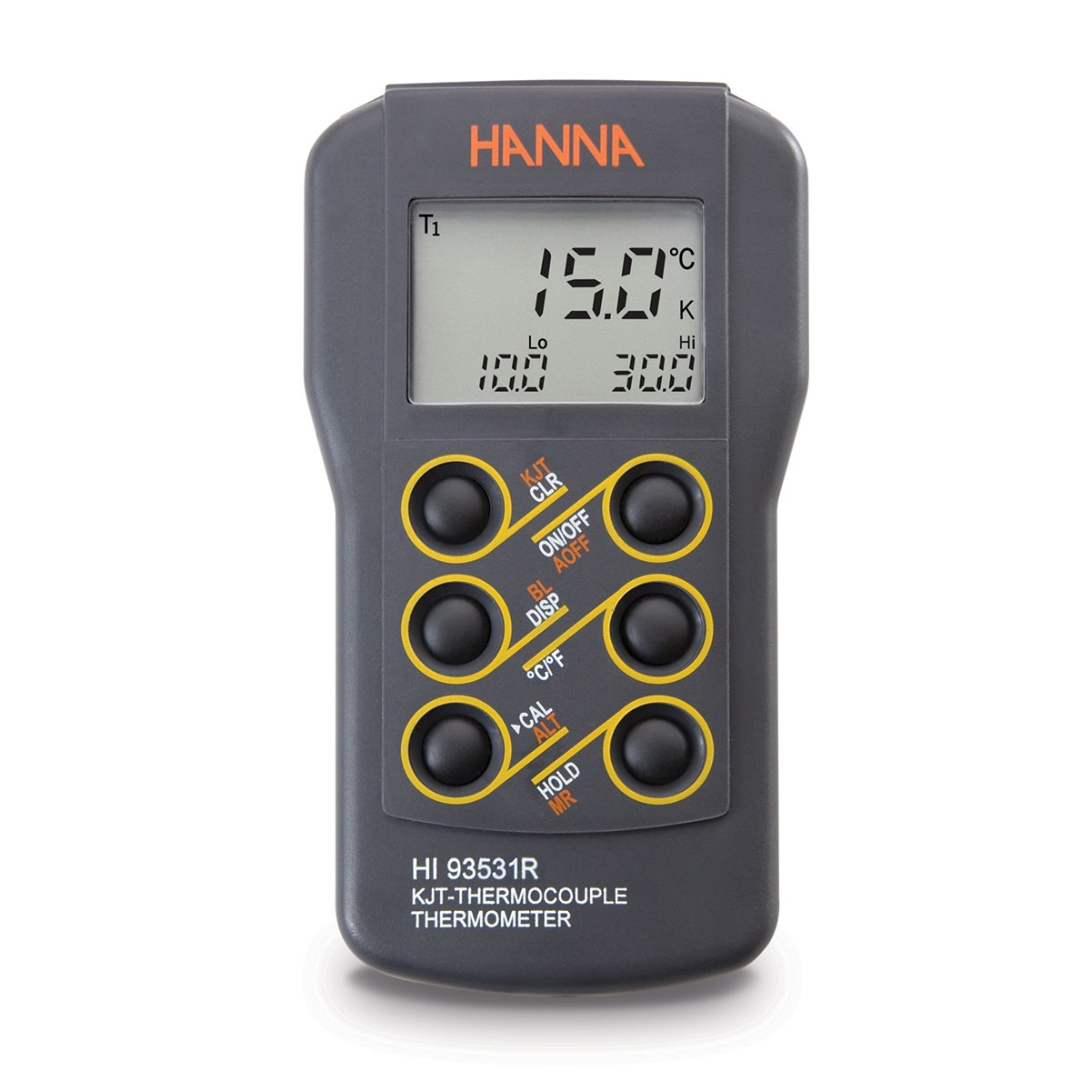 0.1° Resolution K-Type Thermocouple Thermometer with RS232 Output - HI93531R