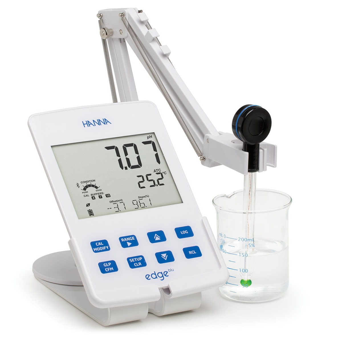 edge® blu Bluetooth® Smart pH Electrode and Meter - HI2202