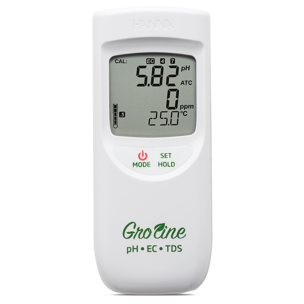 GroLine Hydroponics Waterproof pH/EC/TDS/Temperature Portable Meter - HI9814