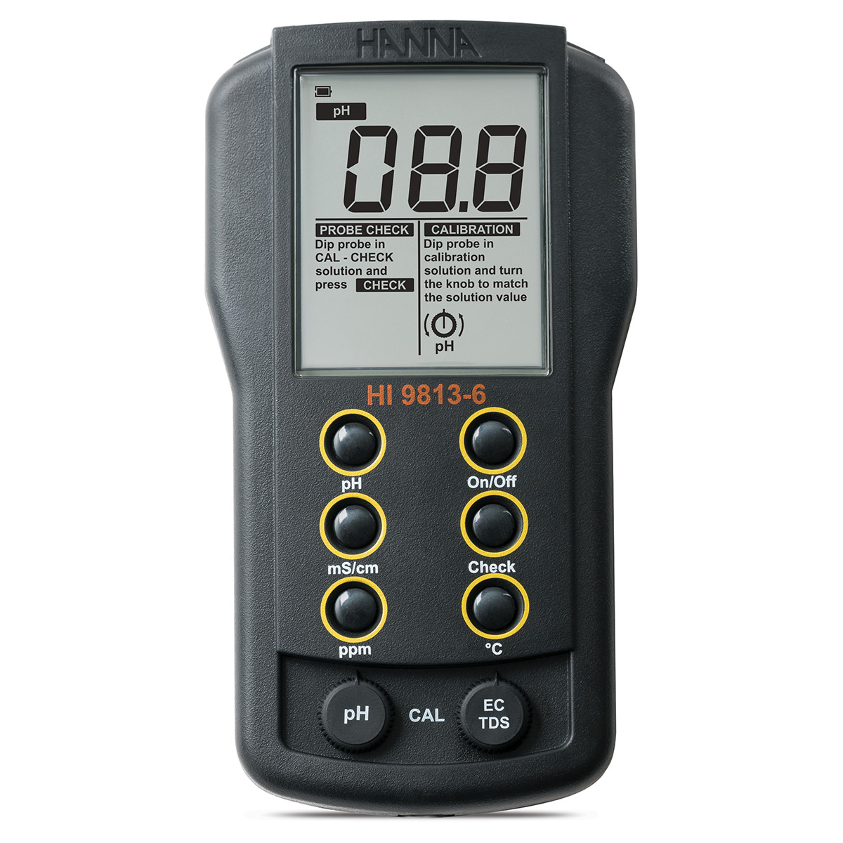 Portable pH/EC/TDS/Temperature Meter with CAL Check™ - HI9813-6