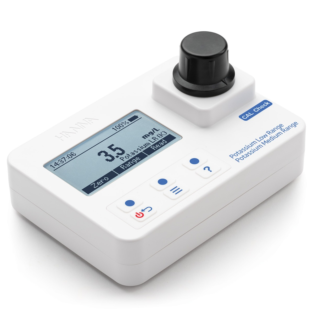 Potassium Low and Medium-Range Portable Photometer with CAL Check – HI97750