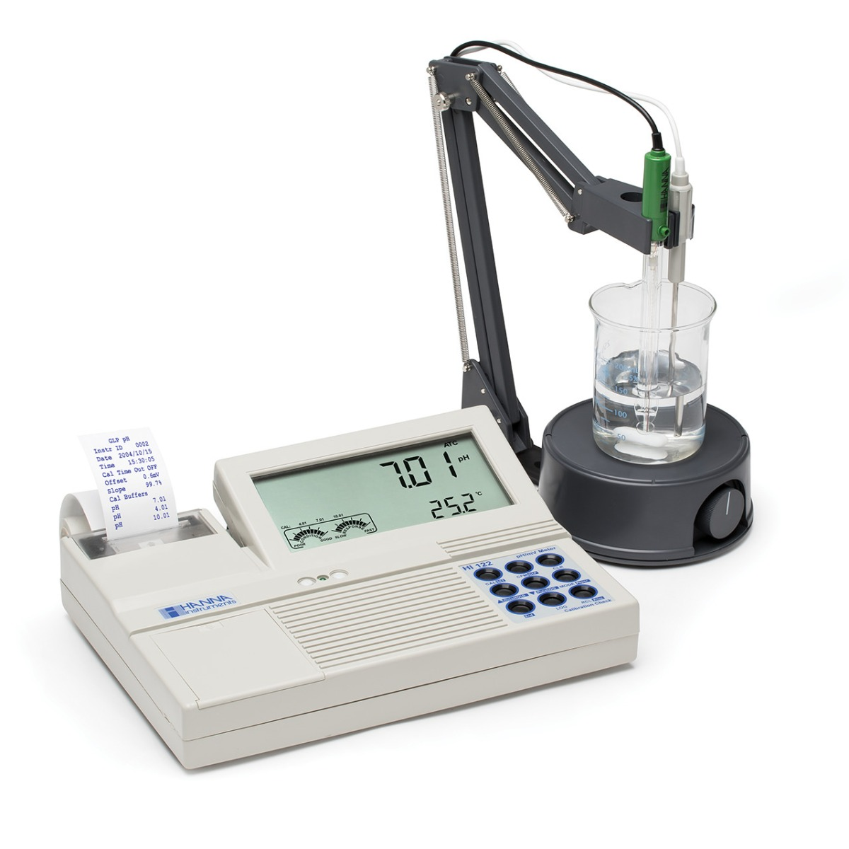 Professional Benchtop pH/mV Meter with Built-in Printer - HI122