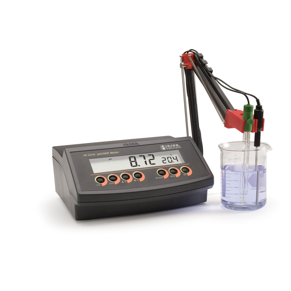 Benchtop pH Meter with 0.01 pH Resolution - HI2210