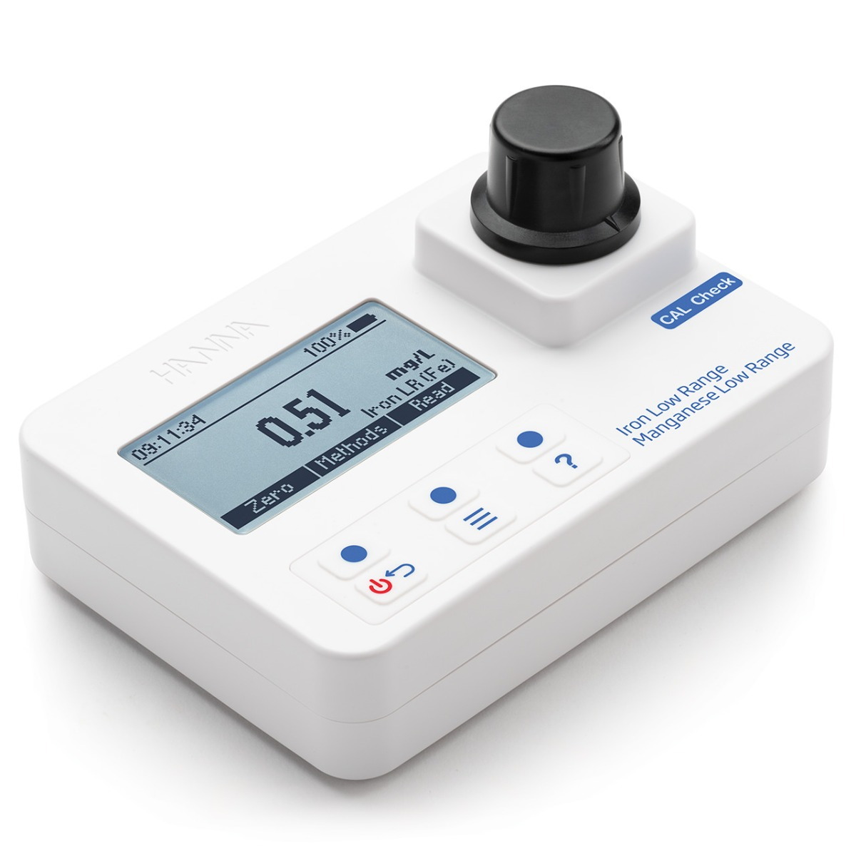Iron and Manganese Low-Range Portable Photometer with CAL Check - HI97742