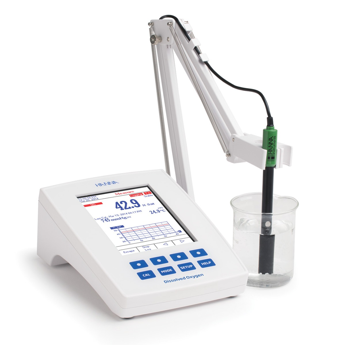 Laboratory Research Grade Benchtop Dissolved Oxygen and BOD Meter - HI5421