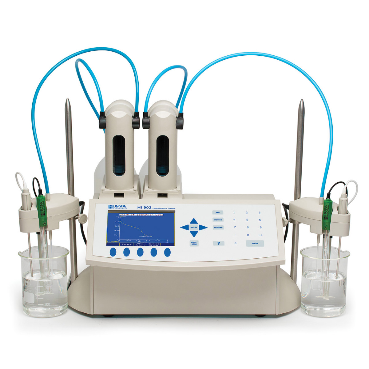 Automatic Potentiometric (pH/mV/ISE) Titration System - HI902C
