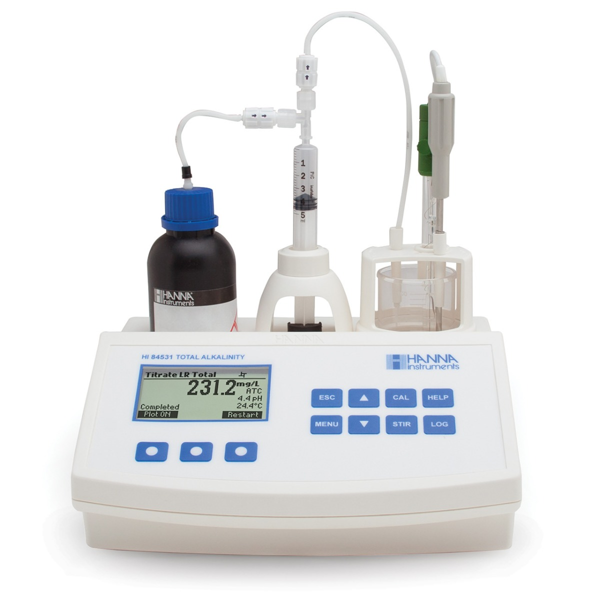 Mini Titrator for Measuring Titratable Alkalinity in Water and Wastewater - HI84531