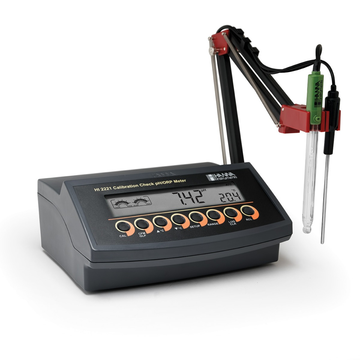 Benchtop pH/mV Meter with CAL Check™ - HI2221