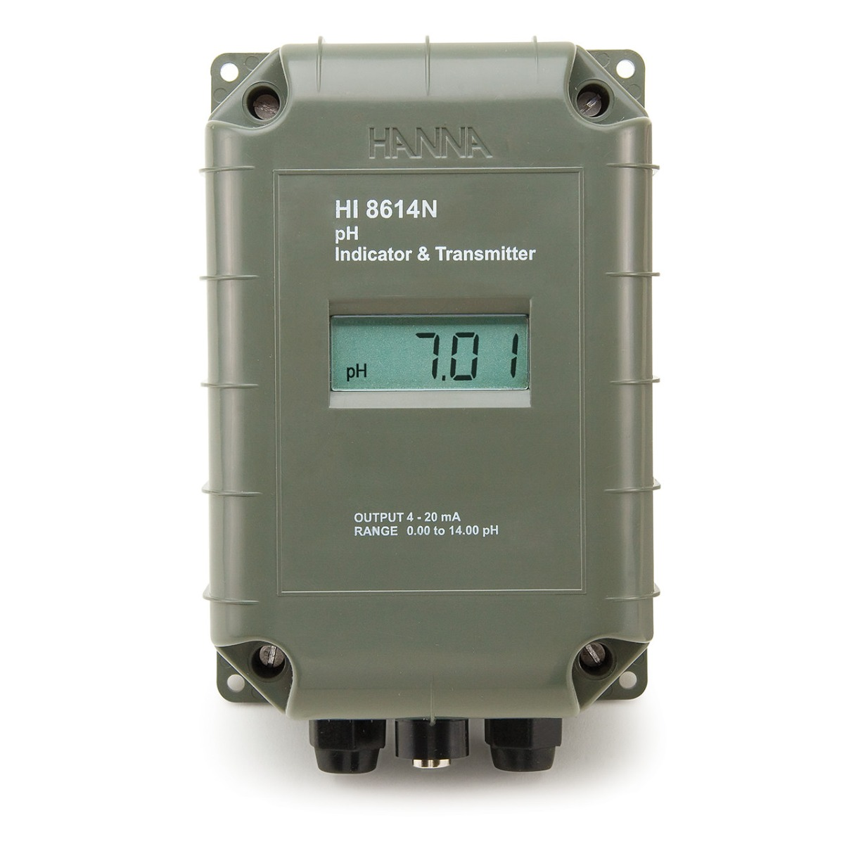 pH Transmitter with 4-20 mA Galvanically Isolated Output - HI8614