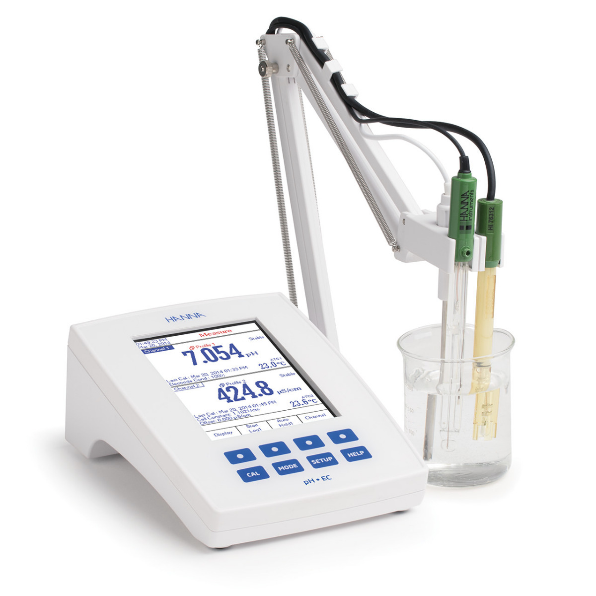 Laboratory Research Grade Benchtop pH/mV/ISE and EC/TDS/Salinity/Resistivity Meter - HI5522