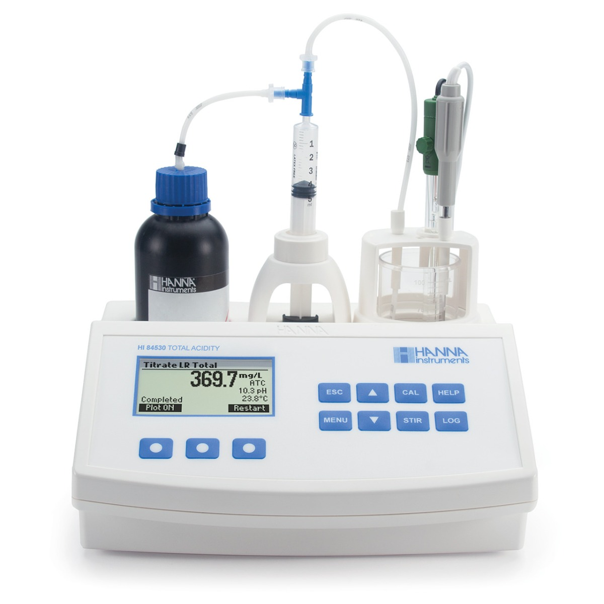 Mini Titrator for Measuring Titratable Acidity in Water - HI84530
